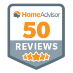 Home Advisor 50 5 star reviews logo